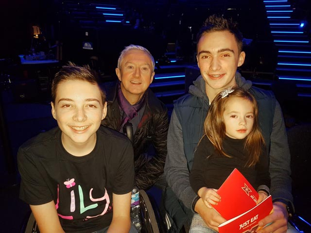Timothy, Christopher and Amedlia pictured the Louis Walsh