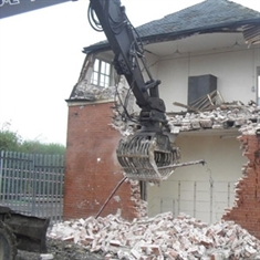 Demolition men hard at work at Maltby Academy