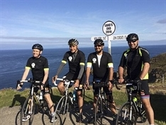 Biking to beat bulge and raise charity cash in friends' memory
