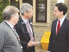 Ed Miliband's surgery visit in NHS row