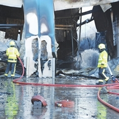 FACTORY BLAZE: company thanks well-wishers