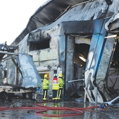 Twisted ruins of blaze-hit Rotherham paper factory: GALLERY