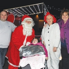 Santa's gift of memories for mum and dad of little Olivia