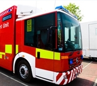 Pensioner hurt in blaze