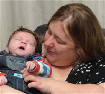 Miracle tot Max survives birth drama