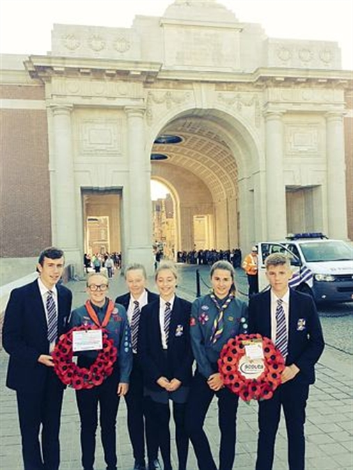Wales High pupils lay wreaths during battlefields tour