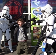 Shoppers feel the force for charity
