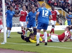 Millers v Chesterfield. MATCH ACTION