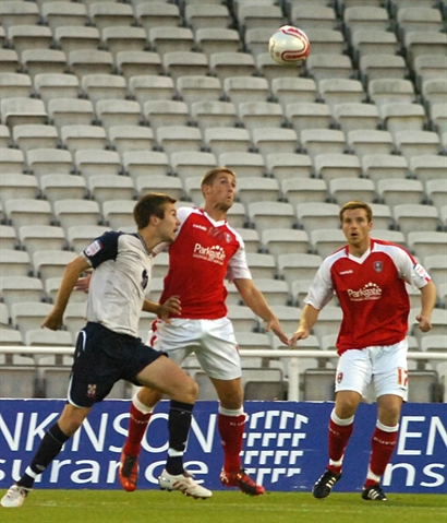 Johnstone's Paint trophy: Millers v Lincoln. Match action