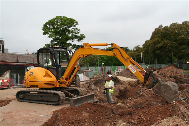 Work to improve entrance at Rotherham Hospital is underway