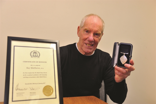 Ray's 'incredible' day as he receives national honour
