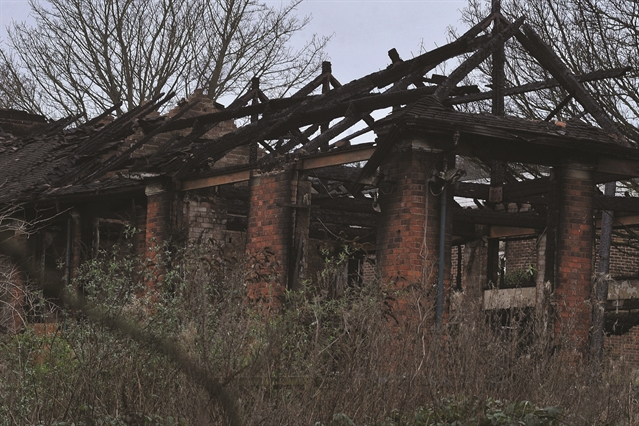 PICTURE EXCLUSIVE: School hall gutted by 'arsonists'