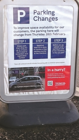 Rotherham town centre Tesco to cut free parking