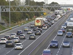 Heavy traffic on M1 and in Rotherham town centre
