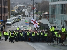 Arrests at English Defence League protest in Rotherham