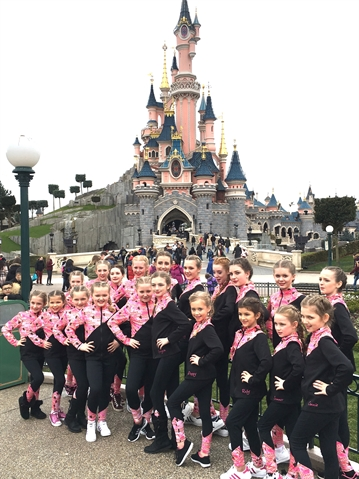 Dance group shows off moves at Disneyland Paris