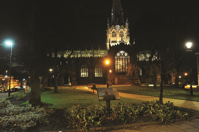 VIDEO: See Rotherham Minster's colourful new lights in action