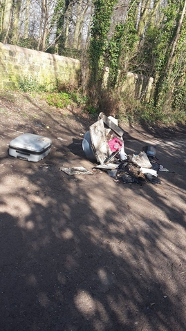 Fly-tippers strike in Kimberworth Park woodland again