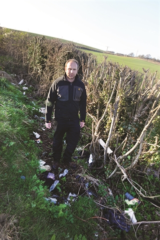 Village beauty spot blighted by fly-tipping