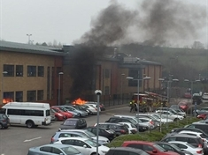 PICTURED: Fire breaks out at school