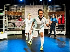 Play tackles issue of female football ban
