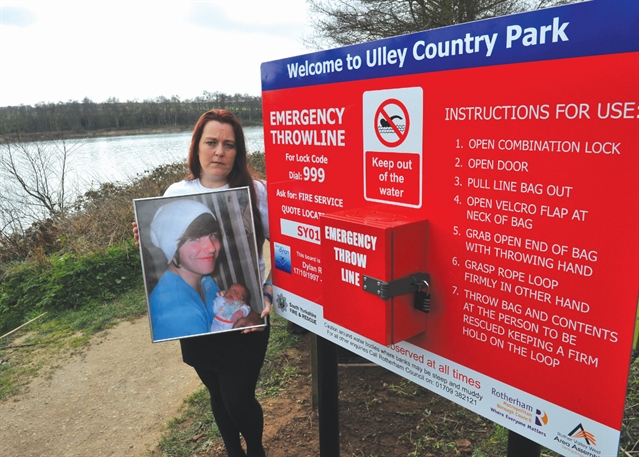 VIDEO: Drowning victim's mum unveils Ulley's new water safety feature