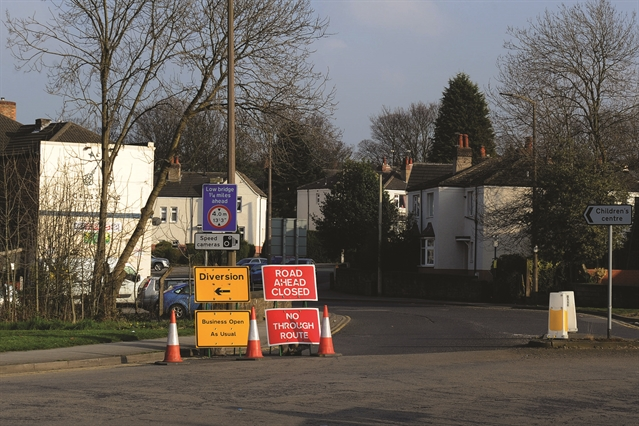 Gas main repairs leads to traffic and plummet in trade
