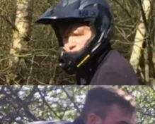 Off-road bikers caught on camera are sought by police