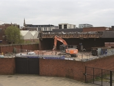 Tesco demolition begins