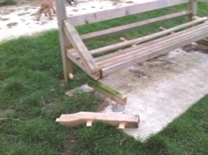 Council 'pig sick' after vandals trash Bramley benches