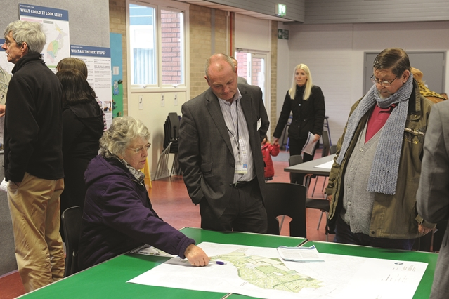 Residents view 2,400-home development proposals