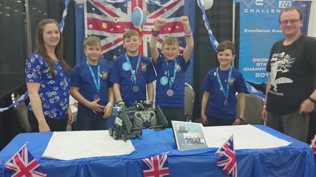 "Robot builders' school trip to the States leaves them ""buzzing"""