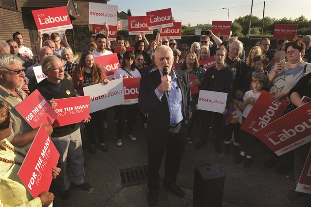 VIDEO: Jeremy Corbyn's Labour battle bus rolls into Rotherham