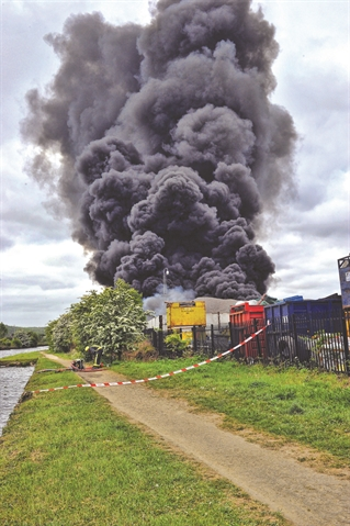 Recycling plant blaze staff 'abused'