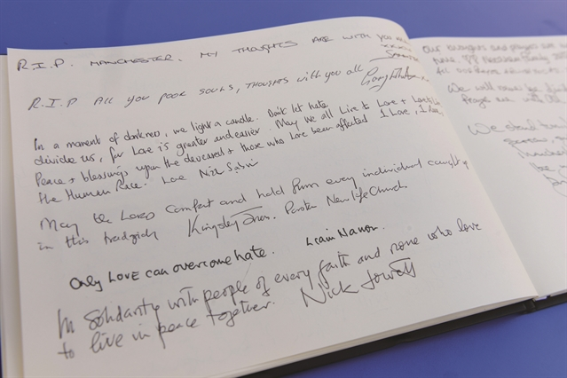 Manchester attack: More than 100 sign book of condolence for bombing victims