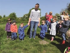 PHOTO GALLERY: Toddlers enjoy 'puddle' walk in Maltby