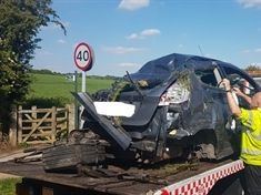 Banned driver high on drink and drugs crashes into car