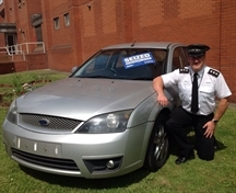 Seized cars put on show to highlight insurance message