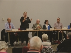 Empty chair due to Tory no-show at Rotherham election debate