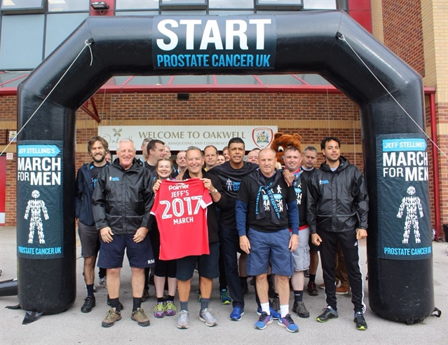 Ronnie Moore joins Jeff Stelling on marathon walk for Prostate Cancer UK