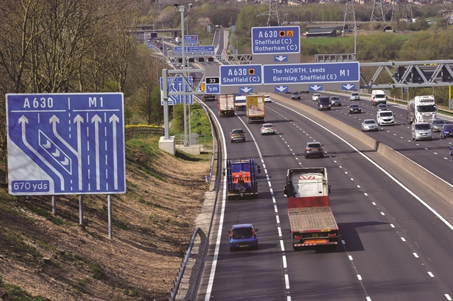Accident causing delays on M1 motorway