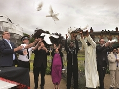 Doves released in memory of Grenfell Tower fire and Finsbury Park mosque attack victims
