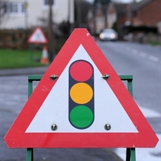 Roadworks cause delays in Greasbrough