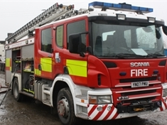 Wheelie bins deliberately set alight