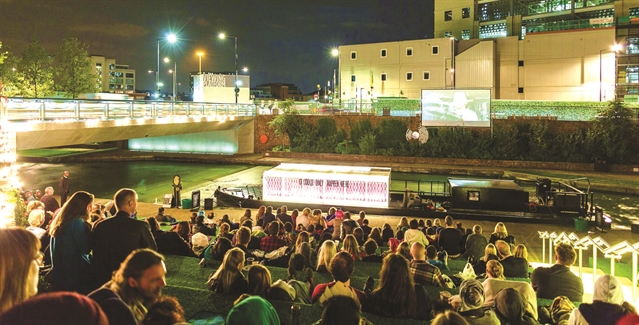 Lights, camera action - floating cinema makes its way to Rotherham