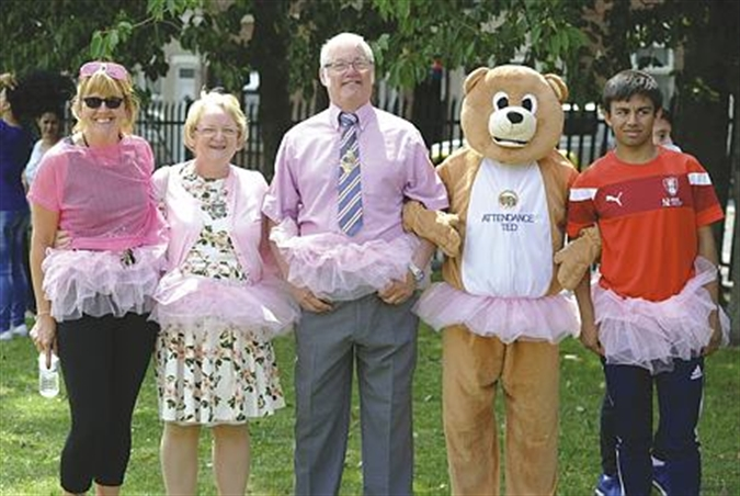 PHOTO GALLERY: Pupils in the pink for Race for Life