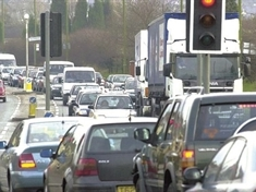 Roadworks cause delays in Aston
