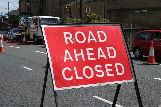Road closed for maintenance work