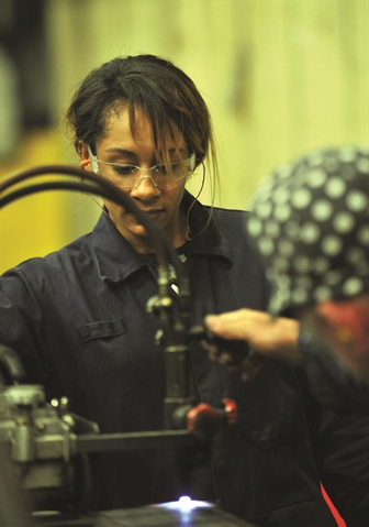 Christina loves forging a career in the world of welding