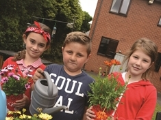 Care home garden boosted thanks to green-fingered Rawmarsh kids